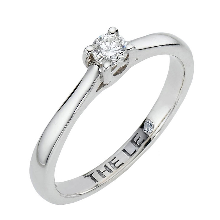 Leo Artisan platinum 0.15ct I-SI2 diamond solitaire ring - Product number 2342618
