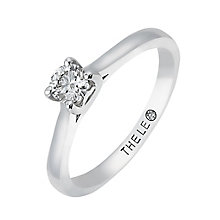Leo Artisan platinum 0.25ct I-SI2 diamond solitaire ring - Product number 2342758