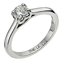 Leo Artisan platinum 0.50ct I-SI2 diamond solitaire ring - Product number 2343029