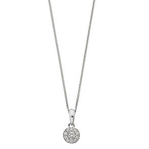 Leo Diamond 18ct white gold 0.20ct I-I1 diamond pendant - Product number 2344467