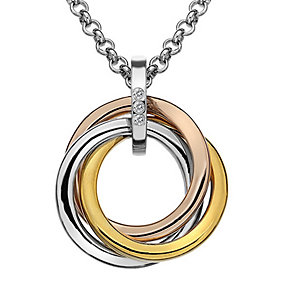 Hot Diamonds silver & two colour gold-plated pendant - Product number 2345951