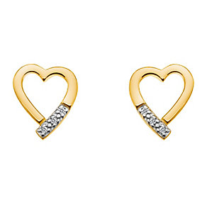 Hot Diamond Memories yellow gold-plated stud earrings - Product number 2345978