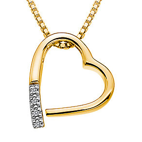 Hot Diamond Memories yellow gold-plated pendant - Product number 2345986