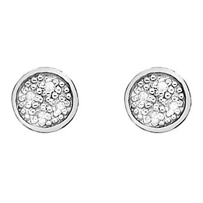 Hot Diamond Stargazer sterling silver circle earrings - Product number 2346001