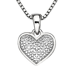 Hot Diamond Stargazer sterling silver heart pendant - Product number 2346028