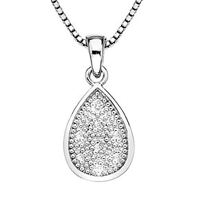 Hot Diamond Stargazer sterling silver teardrop pendant - Product number 2346036