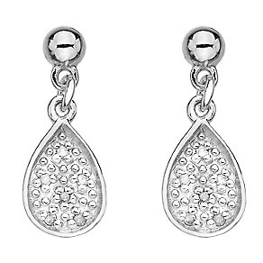 Hot Diamond Stargazer sterling silver teardrop earrings - Product number 2346044