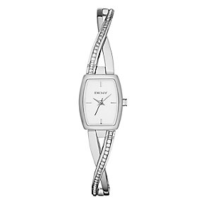DKNY Ladies' Crosswalk Stainless Steel Crystal Bangle Watch - Product number 2346060