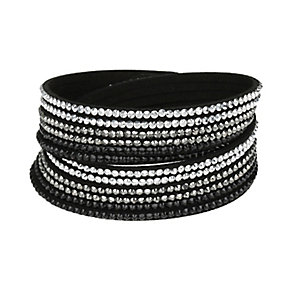Mikey Crystal Set Black Wrap Bracelet - Product number 2349337