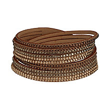 Mikey Crystal Set Brown Wrap Bracelet - Product number 2349345