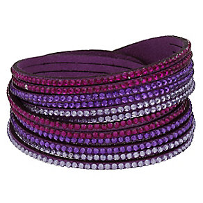 Mikey Crystal Set Purple Wrap Bracelet - Product number 2349353