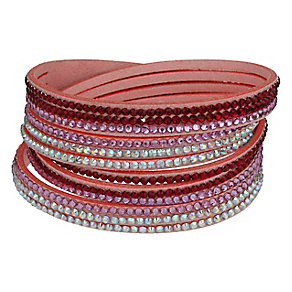 Mikey Crystal Set Pink Wrap Bracelet - Product number 2349361