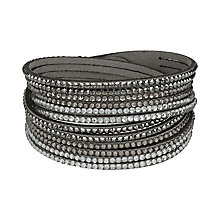 Mikey Crystal Set Grey Wrap Bracelet - Product number 2349388