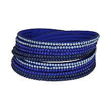 Mikey Crystal Set Blue Wrap Bracelet - Product number 2349396