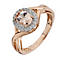 9ct Rose Gold Treated Morganite and Diamond Crossover Ring - Product number 2350033