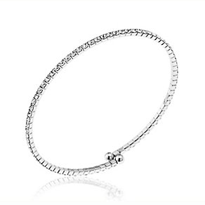Silver Plated Crystal Set Bangle - Product number 2351072