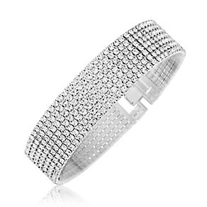 Rhodium Plated Crystal Set Bracelet - Product number 2351196
