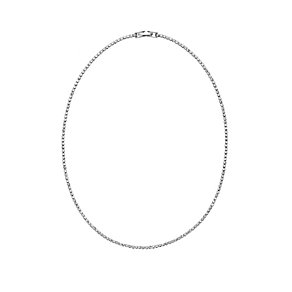 Silver Plated Crystal Set Single Strand Necklace - Product number 2351226