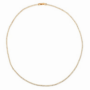 Rose Gold Plated Crystal Set Single Strand Necklace - Product number 2351404