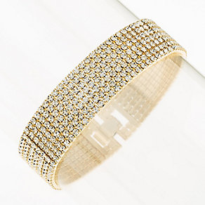 Yellow Gold Plated Crystal Set Bracelet - Product number 2351439