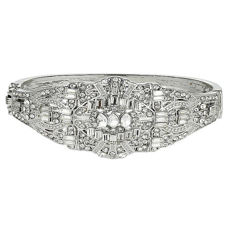Mikey Silver Tone Crystal Set Bangle Bracelet - Product number 2351498