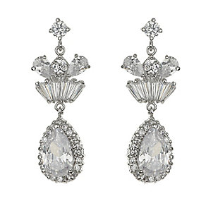 Mikey Vintage Style Crystal Statement Drop Earrings - Product number 2351536
