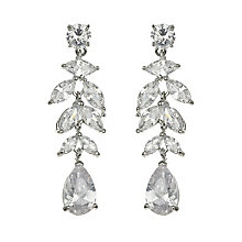 Mikey Leaf Design Crystal Statement Drop Earrings - Product number 2351544