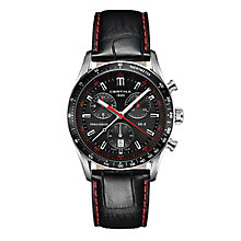 Certina DS2 men's stainless steel black leather strap watch - Product number 2351595