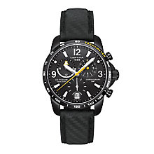 Certina DS Podium men's black ion-plated leather strap watch - Product number 2351641