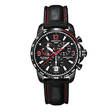 Certina DS Podium men's black ion-plated leather strap watch - Product number 2351668