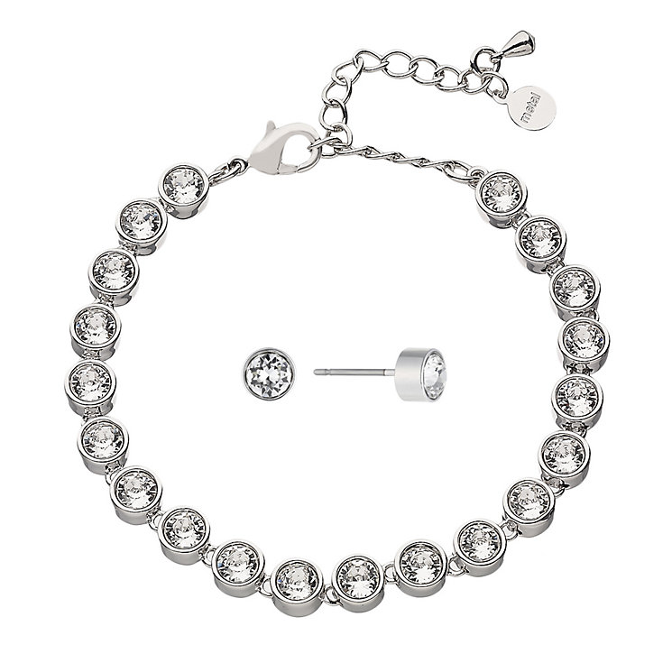 Radiance Swarovski Elements Tennis Bracelet & Earring Set - Product number 2351765
