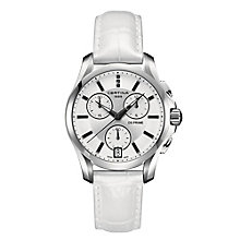 Certina DS Prime Chrono ladies' white leather strap watch - Product number 2352621