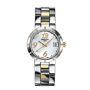 Certina DS Stella ladies' 2 colour bracelet watch - Product number 2352699