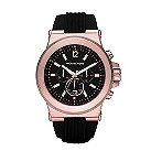 Michael Kors men's chronograph black rubber strap watch - Product number 2353369