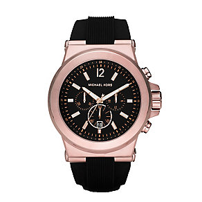 Michael Kors Gents Rose Gold Plated Strap Watch - Product number 2353369