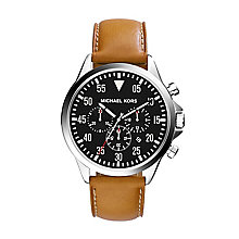 Michael Kors Men's Stainless Steel Leather Strap Watch - Product number 2353377