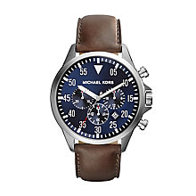 Michael Kors Men's Stainless Steel Leather Strap Watch - Product number 2353385