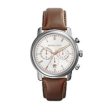 Michael Kors Men's Stainless Steel Leather Strap Watch - Product number 2353466