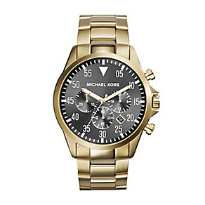Michael Kors Gents Gold Plated Bracelet Watch - Product number 2353482