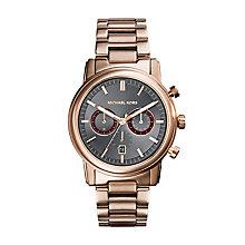 Michael Kors Men's Rose Gold Tone Bracelet Watch - Product number 2353504