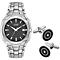Citizen Eco-Drive Men's Bracelet Watch & Cufflinks Set - Product number 2353539