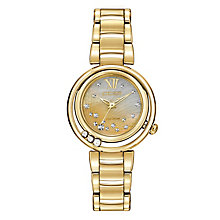 Citizen Eco Drive Ladies' Gold-Plated Diamond Bracelet Watch - Product number 2353571