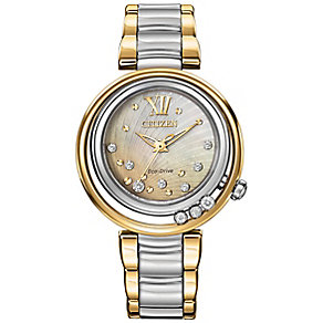 Citizen ladies' two colour diamond bracelet watch - Product number 2353598