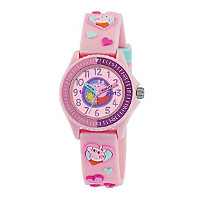 Peppa Pig Children's Pink Time Teacher Watch - Product number 2355213