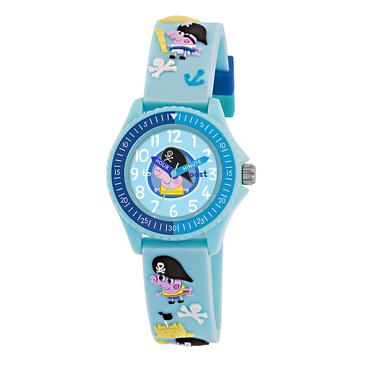 Pirate George Pig Children's Blue Time Teacher Watch - Product number 2355221