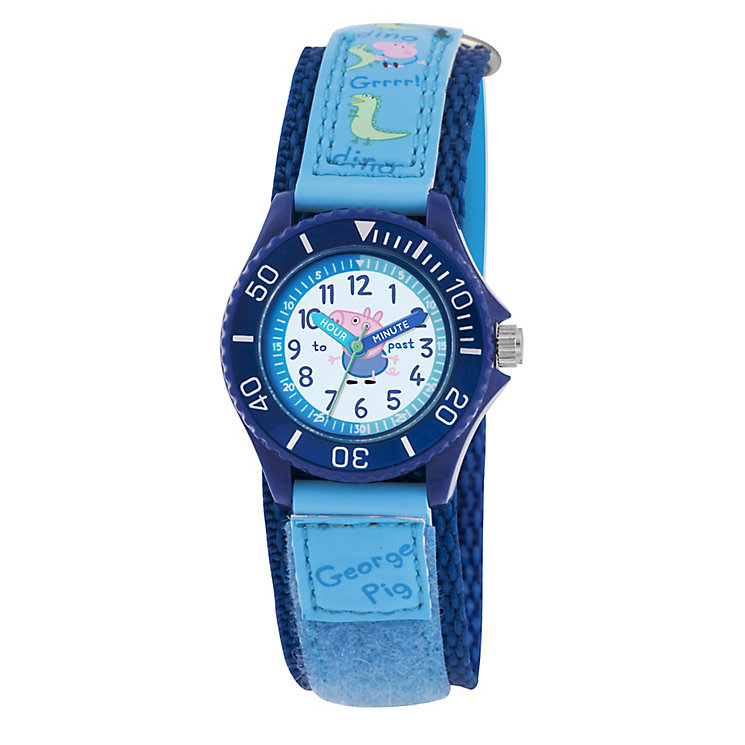 Dinosaur George Pig Children's Blue Time Teacher Watch - Product number 2355248