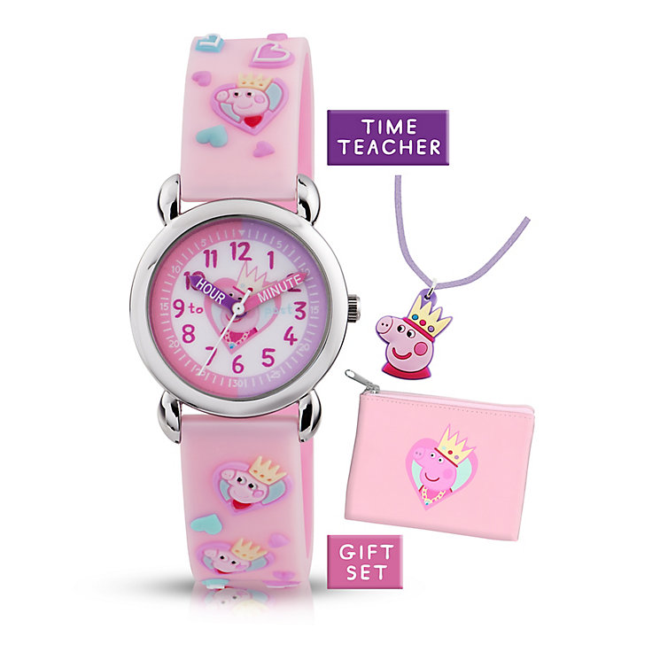 Queen Peppa Pig Pink Time Teacher Watch & Gift Set - Product number 2355264