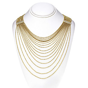 14ct gold-plated ball chain necklace - Product number 2358638
