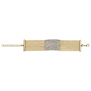 14ct gold-plated crystal mesh bracelet - Product number 2358662
