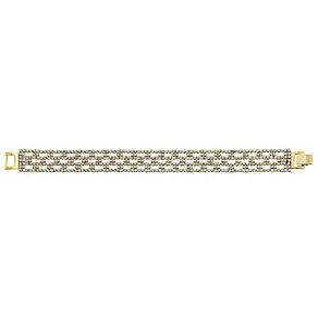 14ct gold-plated crystal thin bracelet - Product number 2358727